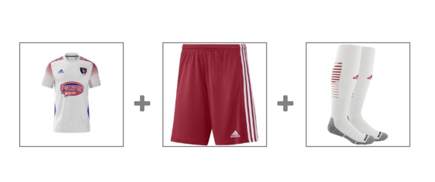 ACADEMY GAME UNIFORM - click either image to order